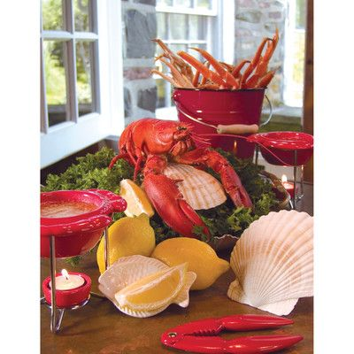 Fox Run Craftsmen Novelty Nantucket Seafood Shell Baking Dish