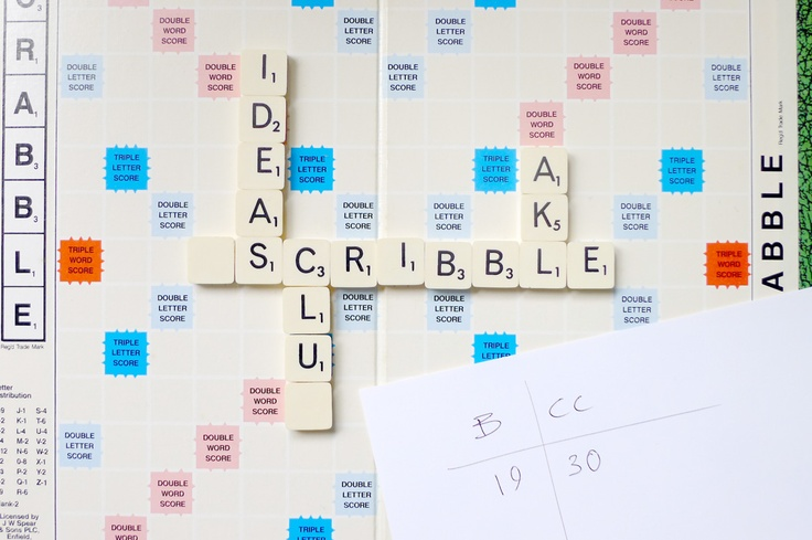 #scribbleAKL no.52 flyer. Scrabble letters, venue and time on score sheet.. date missing.. By @creativeBhav, 09/2012