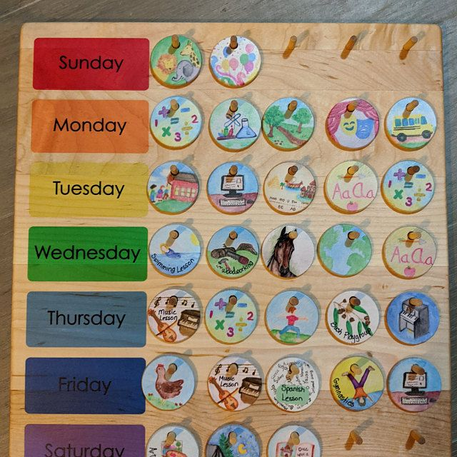 School Calendar Wooden Perpetual Calendar From Jennifer Etsy In 2020 Natural Wood Toys Etsy School Calendar