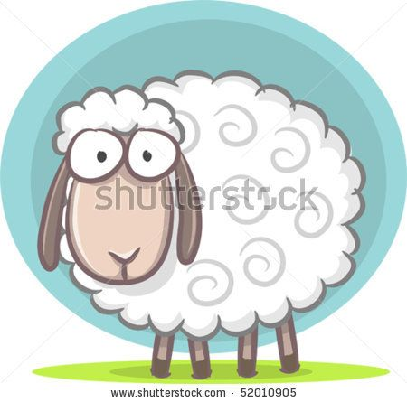 stock vector : Illustration of cute sheep