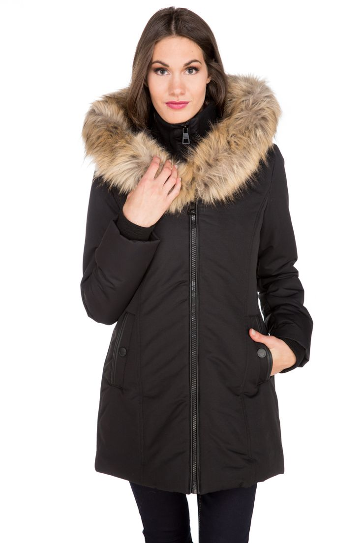 Point Zero Fur Trim Hooded Parka