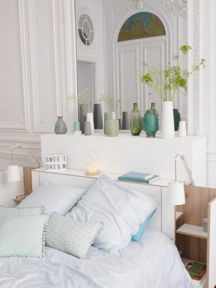 interesting nouvelle collection but chambre poetique scandinave vases de couleurs bleu et vert. Black Bedroom Furniture Sets. Home Design Ideas