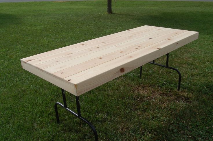 Custom Made Rustic Folding Table - This would be great for beach parties!