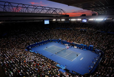Rod Laver Arena - Goal: see all tennis slams ... 1 down