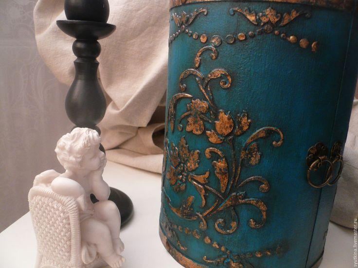 Купить Комодик Turquoise en or - комодик для украшений, комодик для мелочей, комодик декупаж