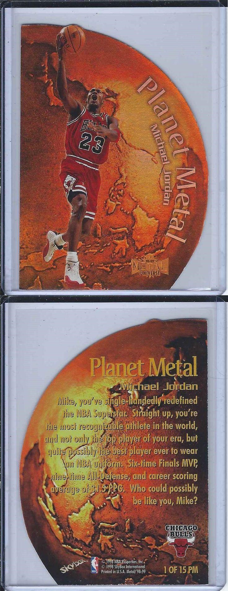 Basketball Cards 214: 1998-99 Fleer Metal Michael Jordan Planet Metal Die-Cut 90 S Insert Bulls Beauty -> BUY IT NOW ONLY: $249.95 on eBay!