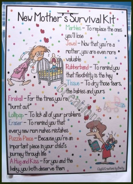 Baby Gift List Poem : New mother s survival kit becky this and by