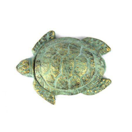 "Antique Bronze Cast Iron Decorative Turtle Bottle Opener 4"" - Cast Iron Bottle Opener - Unique Bottle Opener"