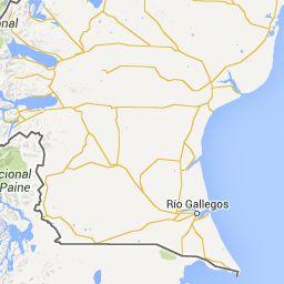 de Ushuaia, Argentina a El Calafate, Santa Cruz Province, Argentina - Google Maps