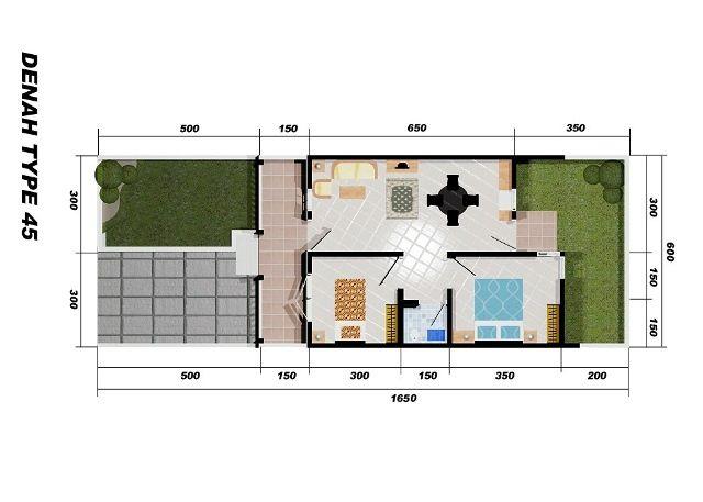 rumah minimalis type 45 15