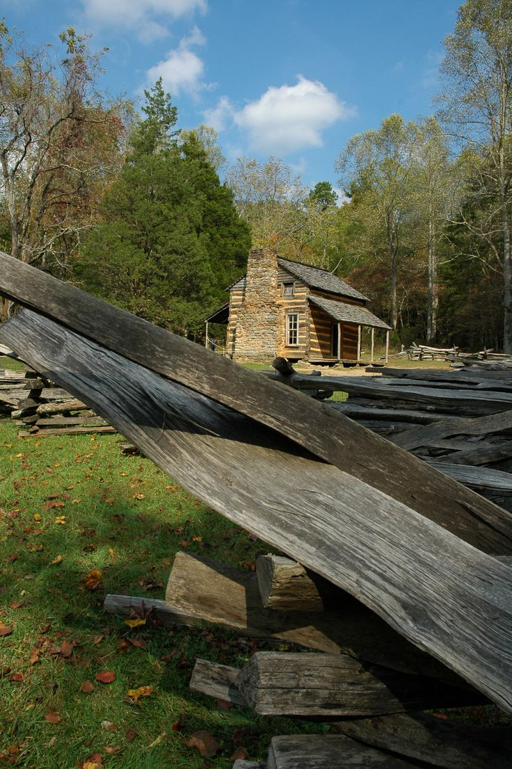 Cades Cove, Tennessee - near Gatlinburg.  A walk through the past and learn a great deal about history.  Picnic area (and facilities) by the grist mill.  Most unique and interesting place.