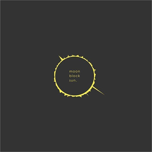 MOON BLOCK SUN #totalsolareclipse #graphic #design #logo #logoroom #kibs #moon