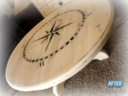 Refinished round dining table with nautical motif - 408 Best Images About Nautical Furniture On Pinterest Beach
