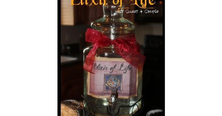 Harry Potter Elixir of Life Recipe  Not that you can even call it a recipe...it was our ice lemon water. But, the Butter Beer  is rich and ...