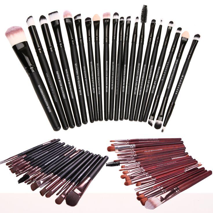 20 PCS Complete Eye Makeup Brush Set Eyeshadow Eyeliner Blending Pencil Makeup Brushes Foundation Brush Makeup Tools