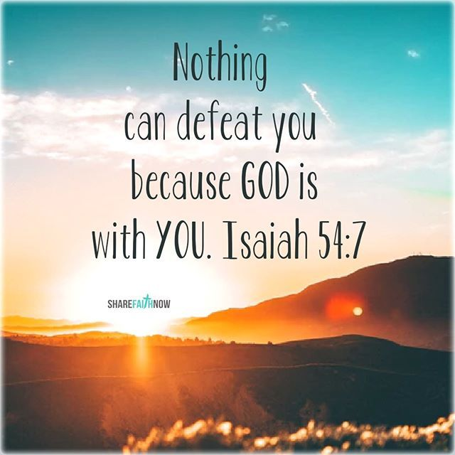 Bible Verse Of The Day:Nothing can defeat you because God is with you. |  Scripture quotes, Scripture verses, Prayer scriptures