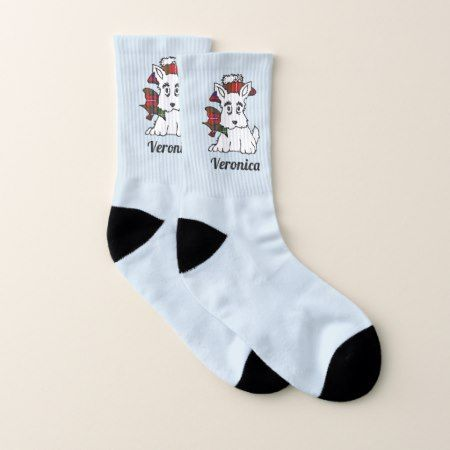 Scottish Terriers Your Background Color Socks - tap to personalize and get yours