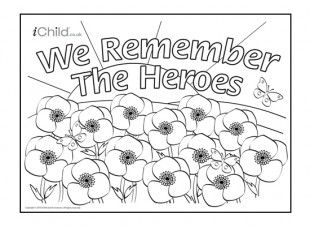 <p>This Remembrance Day poster can be coloured in and decorated by your child.</p>