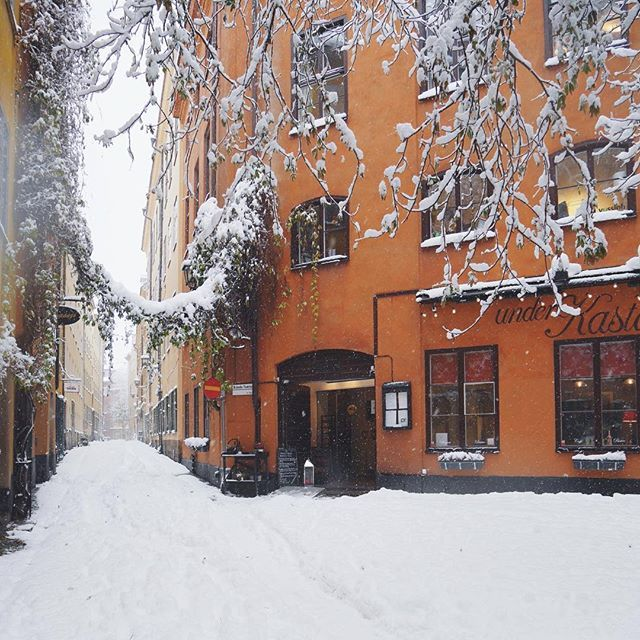 The heavy snowfall in Stockholm today is turning the city into a winter wonderland!❄️❄️❄️ #visitstockholm