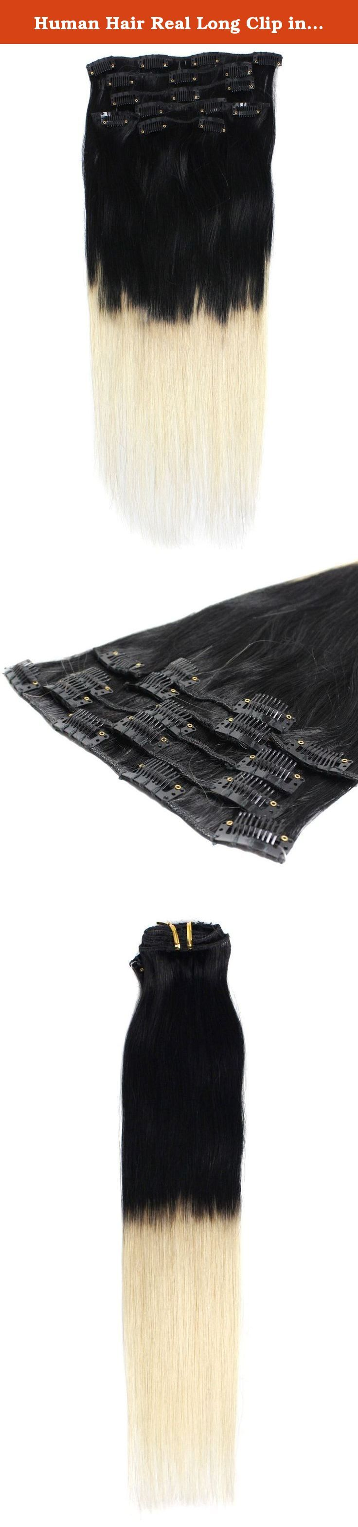 Human Hair Real Long Clip in Remy Human Hair Extensions 18 Inch Color 1/613 70g for Women Beauty. Human Hair Extensions long Asian soft Silky straight 100% human hair extension. The best quality and price for absolutely gorgeous tape in human hair extensions ! You will be amazed on the quality. Wearing it, it can bring you more confidence, more charm and more happiness. We guarantee 100% human hair. A set of 7 pieces : one - 8 inch piece with four clips ( for the back of the head ) two…