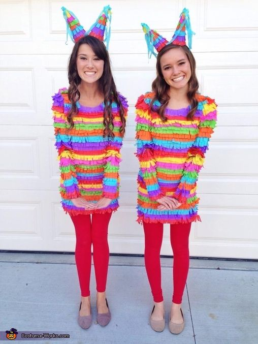 Pinatas - DIY Halloween Costumes.... I personally would not want to be beaten until something falls out...
