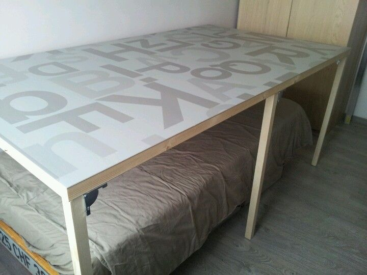Folding Chair Ikea Dining Pad Cutting Table Over A Bed / | Sewing Room Pinterest Tables, ...