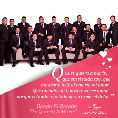 Te Quiero A Morir - Banda El Recodo 2011 con letra lyrics ...