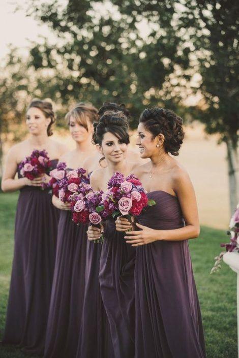 Inspiration décoration mariage prune !!!