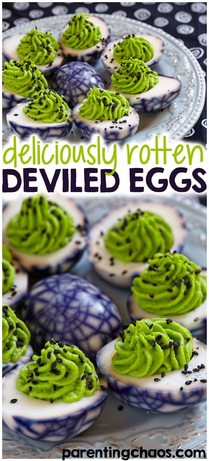 With Halloween sneaking up on us, I'm sure you'll be attending some parties. The kids are sure going to go nuts over these Halloween deviled eggs. via @pixilatedskies