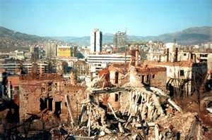 The Siege of Sarajevo was the longest siege of a capital city in the history of modern warfare. The capital of Bosnia & Herzegovina, was besieged by the Army of Republika Srpska from 5 April 1992-29 February 1996 during the Bosnian War.   After Bosnia & Herzegovina had declared independence from Yugoslavia, the Serbs—whose strategic goal was to create a new Bosnian Serb state encircled Sarajevo w/a siege force of 18,000 stationed in the surrounding hills; 12,000 civilians were killed.
