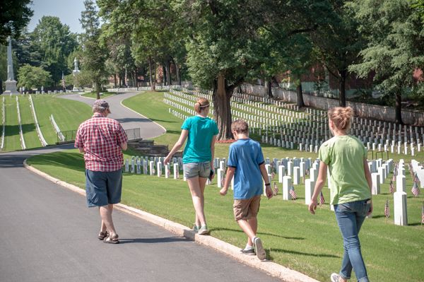 1 salisbury national cemetery carissa rogers photography family in veteran cemetery on memorial day A veterans cemetery and historical burial ground of Union POW Soldiers during the Civil War...