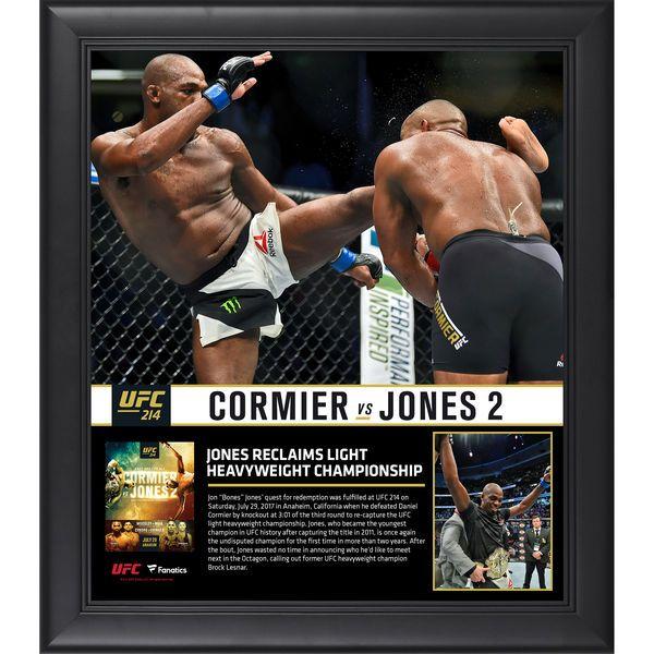 "Jon Jones Ultimate Fighting Championship Fanatics Authentic Framed 15"" x 17"" UFC 214 And New Light Heavyweight Champion Collage - $49.99"