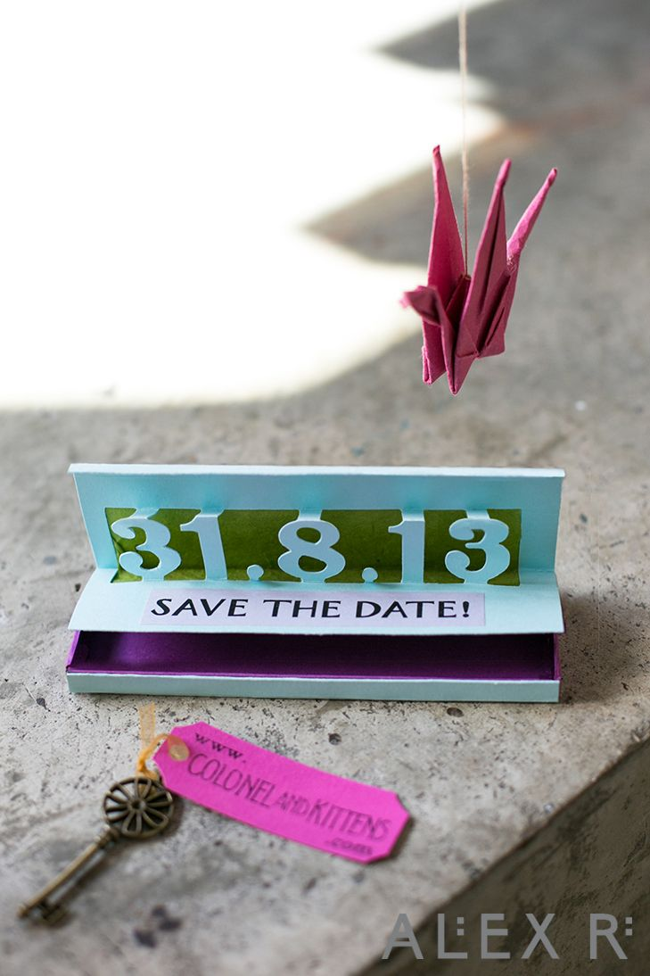 The Save the Date invite with secret key compartment
