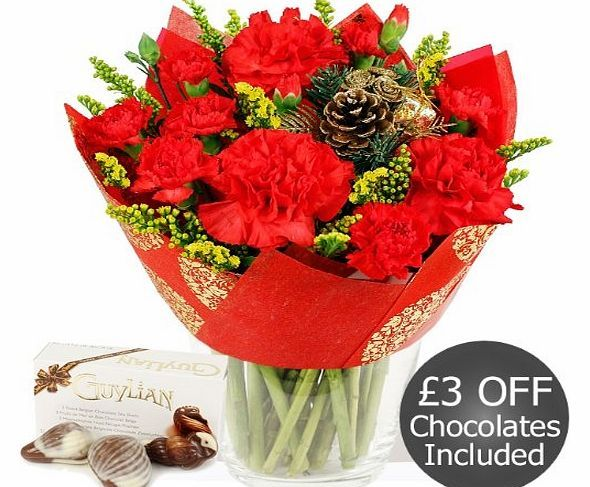 Eden4flowers.co.uk Eden4flowers Christmas Flowers Delivered - Simply Christmas Red with Chocolates Our florists simple bouquet of cheerful Christmas flowers with chocolate seashells. This arranged bunch includes red Carnations, red Spray Carnation and golden Solidago flower, finished with a festiv http://www.comparestoreprices.co.uk/flowers-and-flower-delivery/eden4flowers-co-uk-eden4flowers-christmas-flowers-delivered--simply-christmas-red-with-chocolates.asp