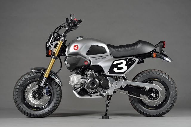 Planet Japan Blog: Honda Grom Scrambler Concept-One @ Tokyo Motorcycle Show 2015
