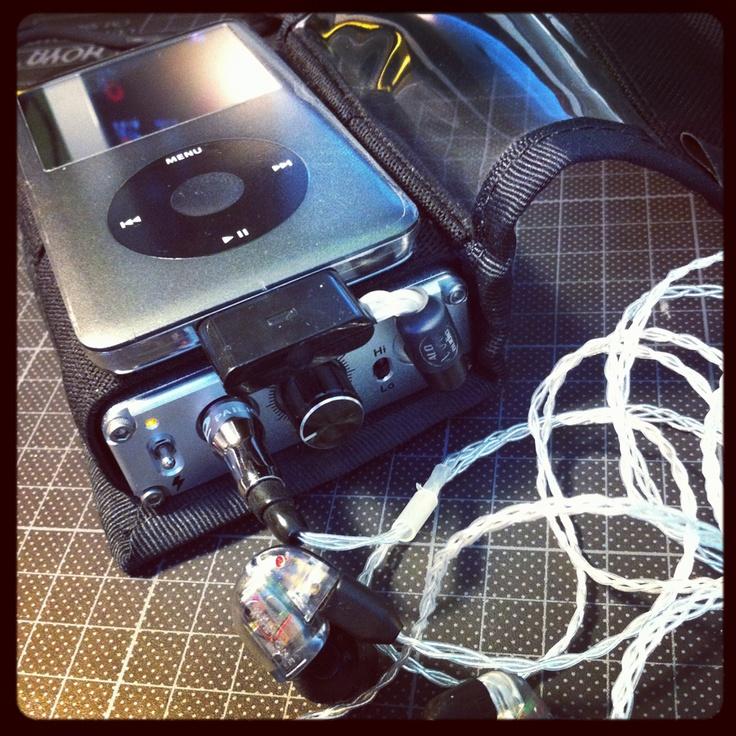 Yiu's Setup. Continental V2, The Cricket LOD, DIY IEM cable, UM3X RC , iPod Classic, Black Star bag #mysetup