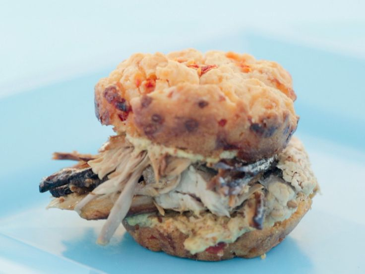 Ham And Pimiento Cheese Drop Biscuit Sandwiches recipe from Trisha Yearwood via Food Network