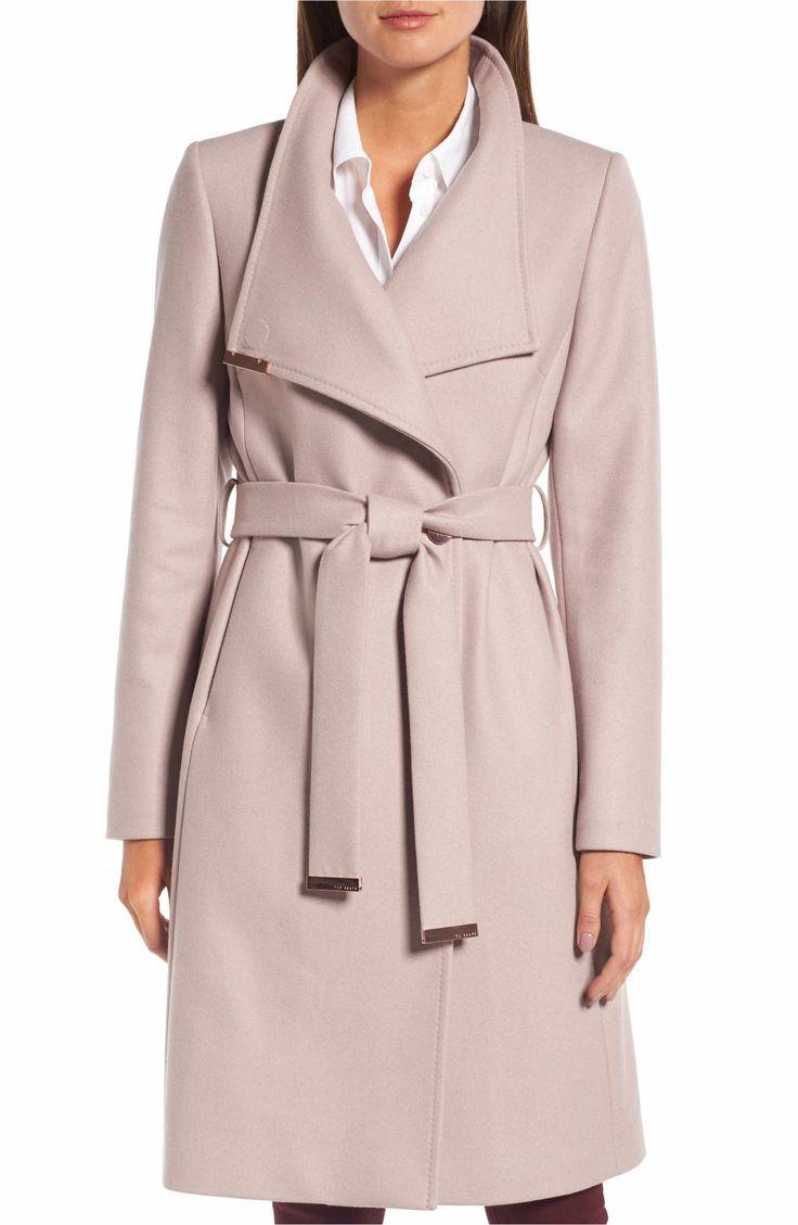 Main Image - Ted Baker London Wool Blend Long Wrap Coat