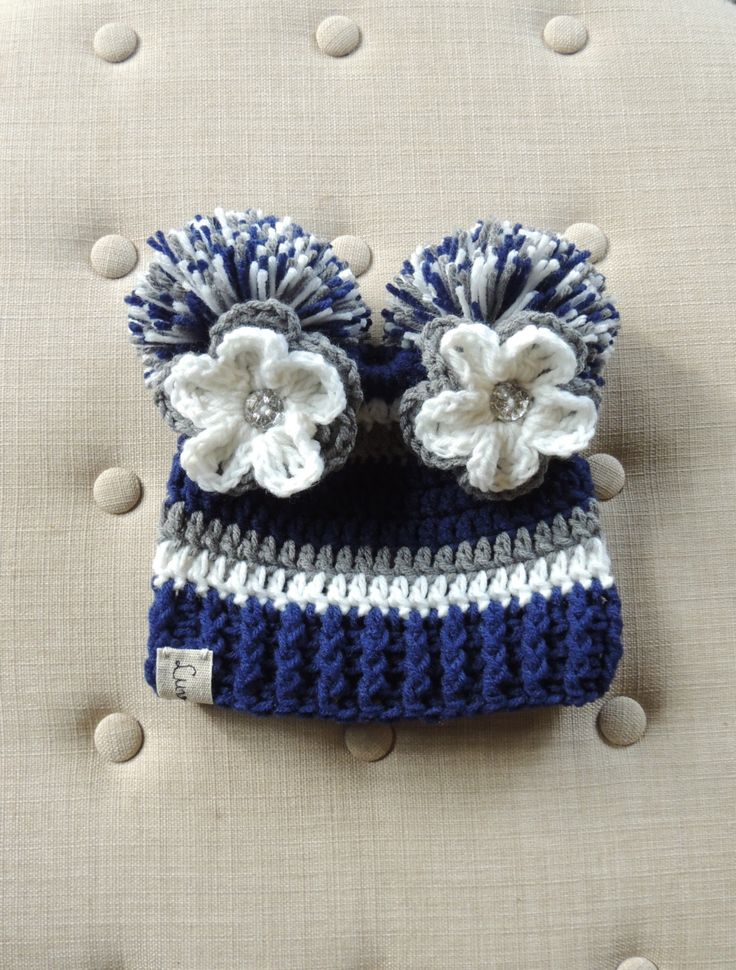 Crochet Football Beanie, Luv Beanies, Football hats, Dallas Cowboys colors, Hats for Kids, girls hats, Sports hats, Flower beanies,baby hats by LuvBeanies on Etsy