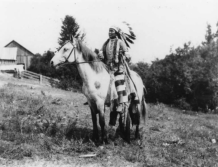 Nez Perce man named David Williams on horseback, Colville Indian Reservation, Washington, ca. 1900-1910.