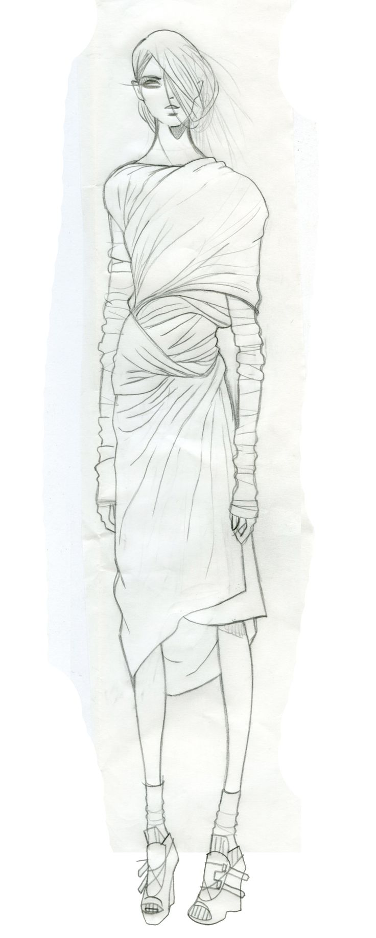 Fashion Sketchbook - fashion design illustration; dress drawing; fashion sketch; fashion portfolio