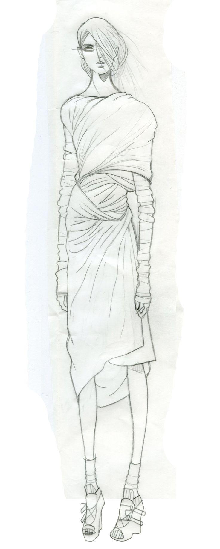 Stephanie, London May 2014. Jaa design original fashion illustration. http://jaaarchives.com/