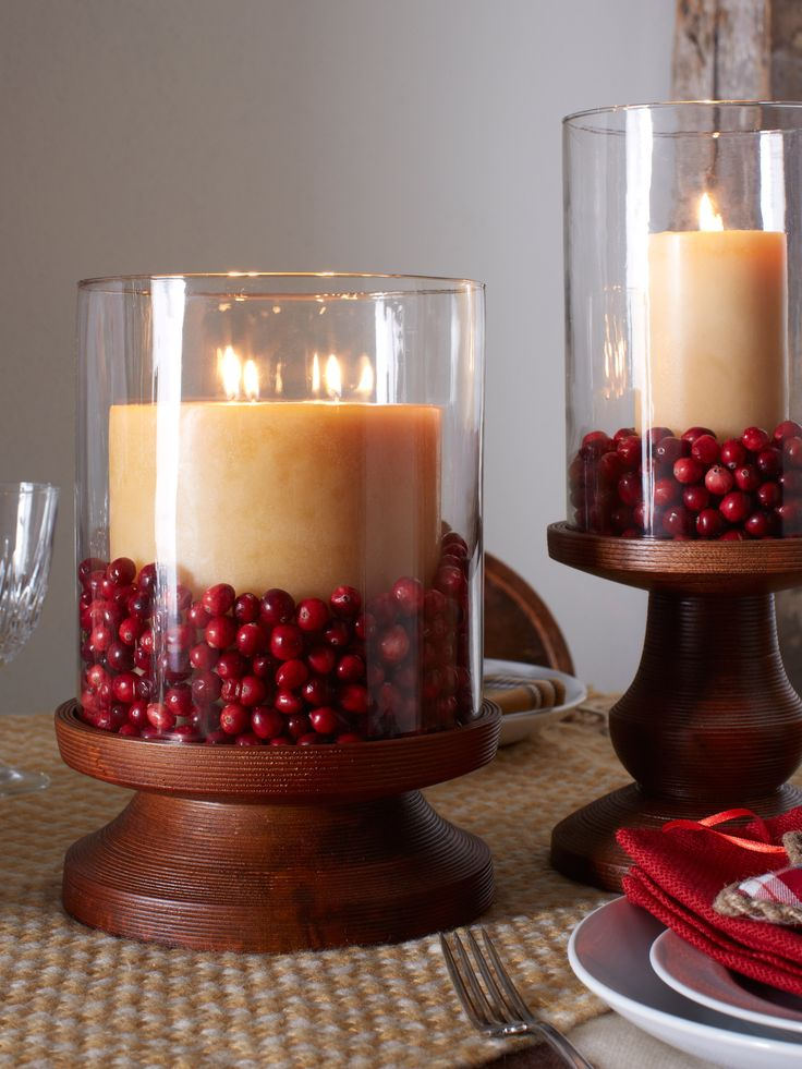 1000 ideas about hurricane centerpiece on pinterest for Artificial cranberries decoration