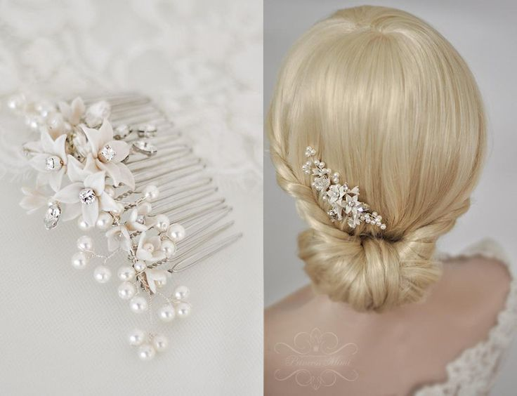 Brautschmuck haare blumen perlen  Die besten 25+ Haarschmuck braut Ideen auf Pinterest | Braut ...