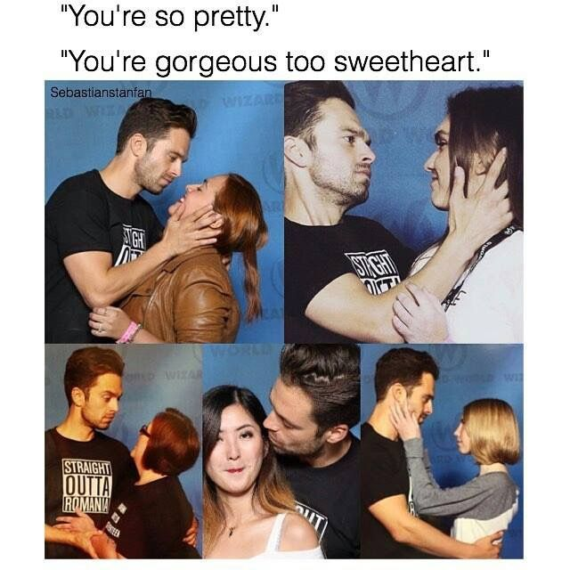 Sebastian stan at wizard world Tulsa 2016 . Guys he is the sweetest ❤️ i remember the day he looked at me like this .... Jk but it doesnt kill to dream right
