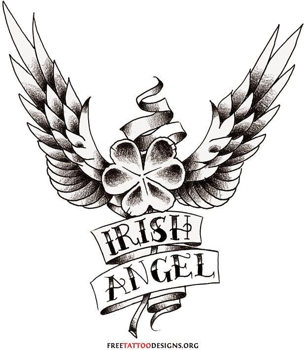 angel clover tatoos clover wings tattoo tattoos design tattoos pinterest tatoos tattoo. Black Bedroom Furniture Sets. Home Design Ideas