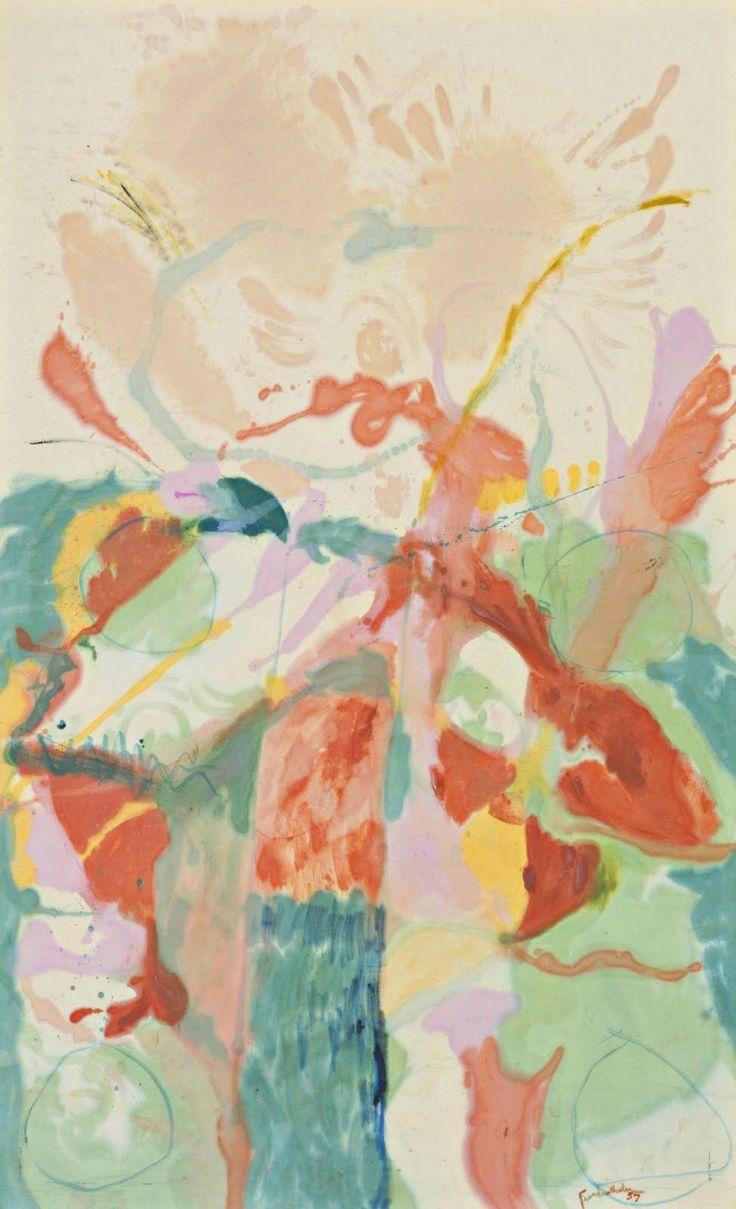 Helen Frankenthaler, Jacob's Ladder, 1957    I love the upward movement in this piece.
