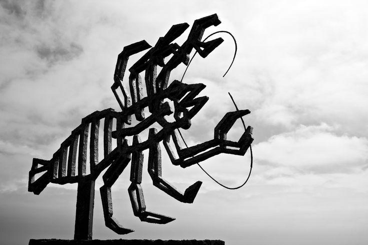 Sculpture at Jameos del Agua, Lanzarote.