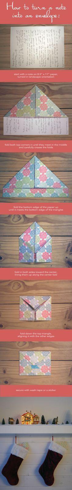 Una nota | 25 tutoriales para que aprendas a doblar cosas como un verdadero adulto