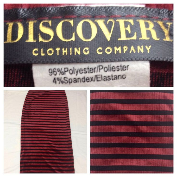 Discovery Women's Black & Red Striped Stretch Long Maxi Skirts Size L Worn Once #Discovery #Maxi #Skirts